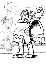 Scary Halloween Coloring Pages Online by Picture Vampire Coloring Pages 12 With Additional Coloring Pages