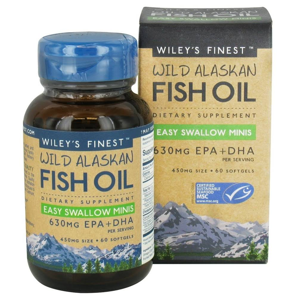 Wiley's Finest Wild Alaskan Fish Oil - 450mg, 60 Softgels