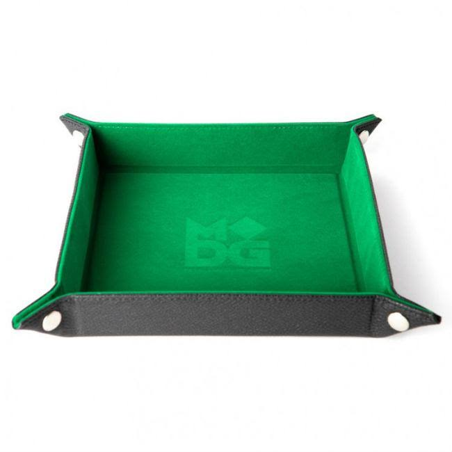 Folding Dice Tray - Velvet Green