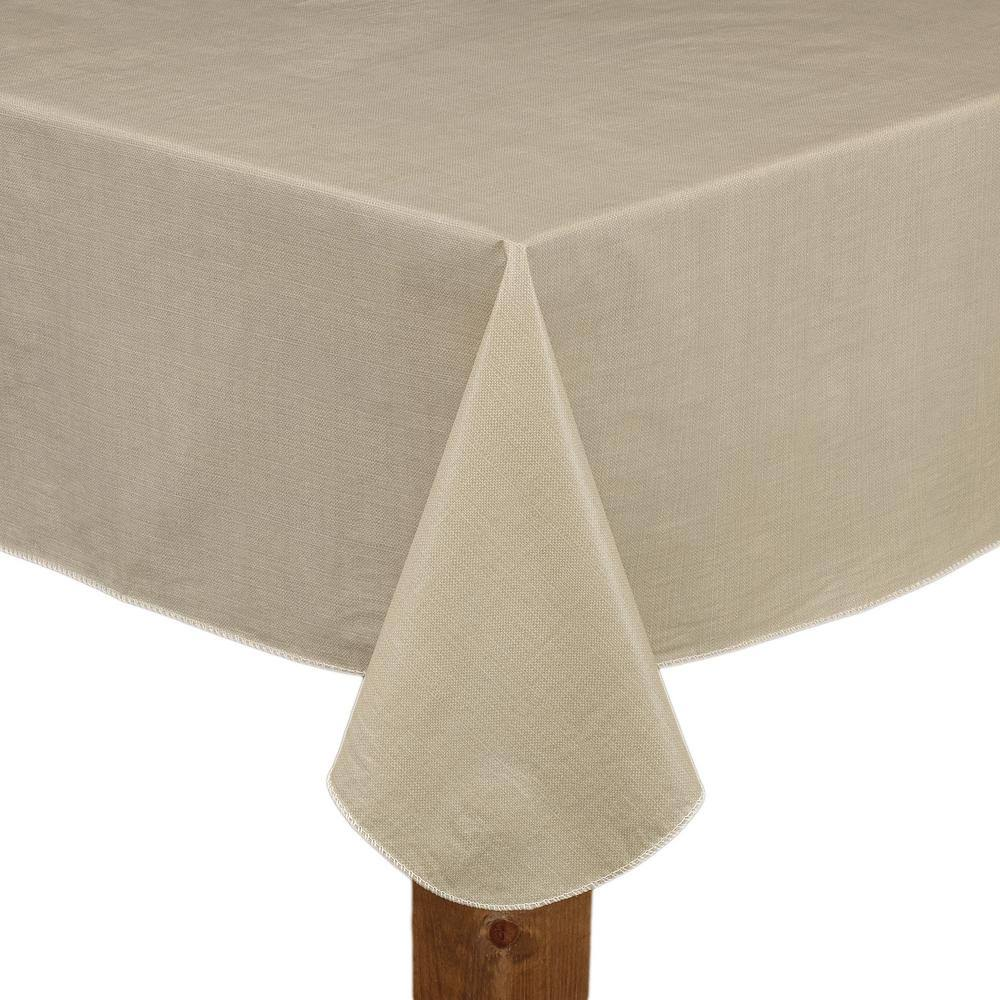 Cafe Deauville Sand 60x120 Oblong Rectangle Vinyl Tablecloth Kitchen