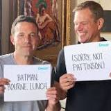 BFFs Matt Damon and Ben Affleck poke fun at Batman, Bourne in hilarious charity video