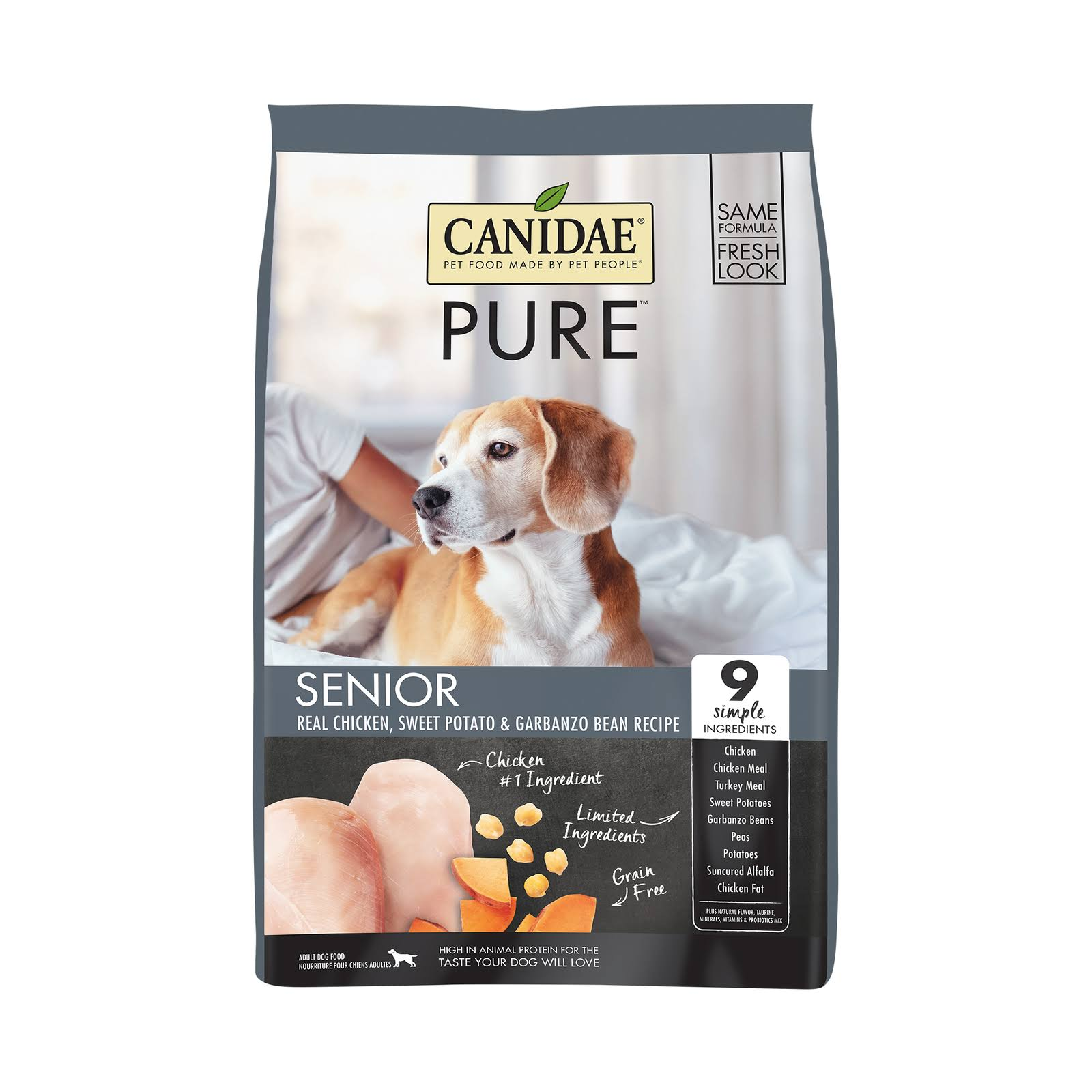 Canidae Grain Free Pure Meadow Senior Dog Dry Formula - with Fresh Chicken, 24lbs