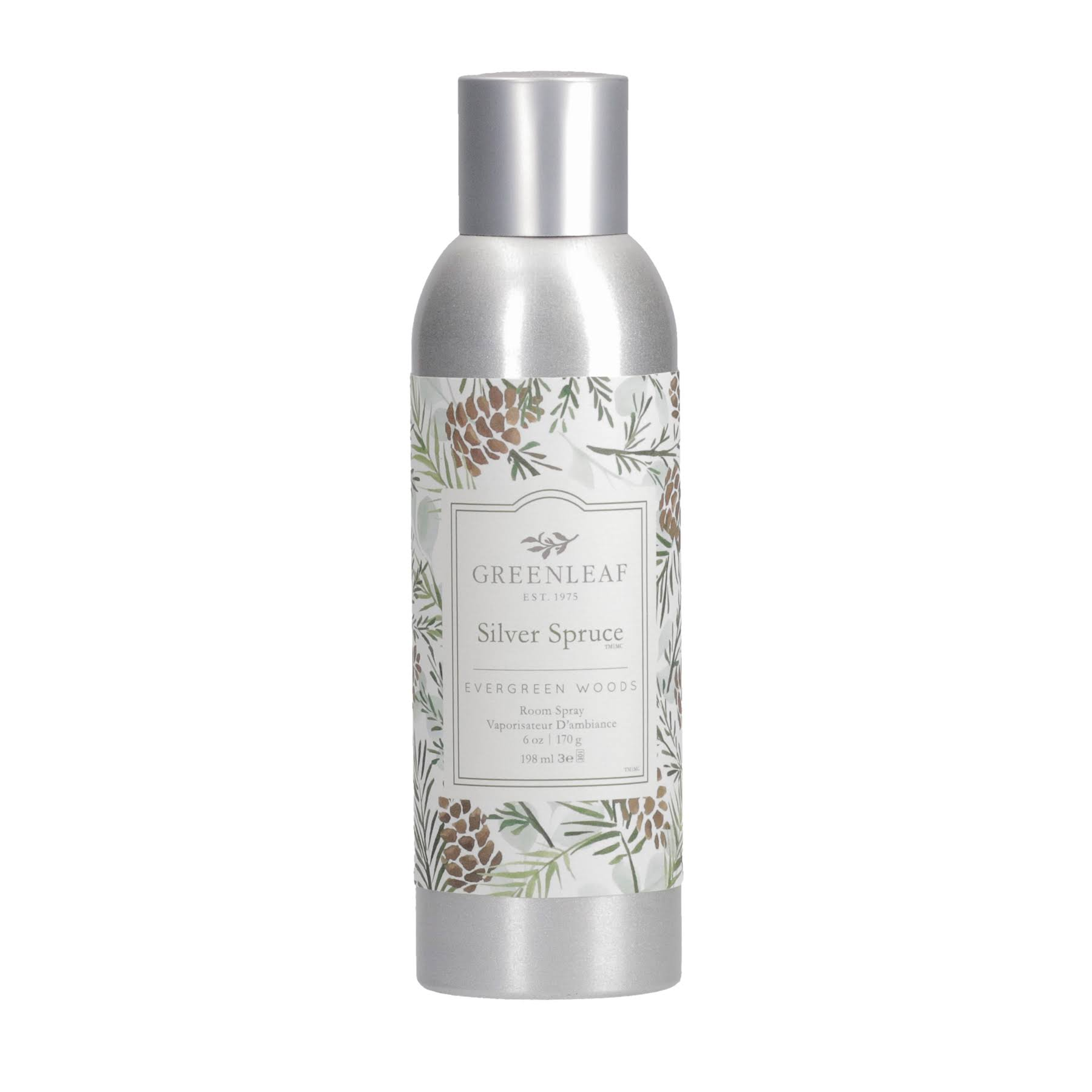 Green Leaf Room Spray Silver Spruce