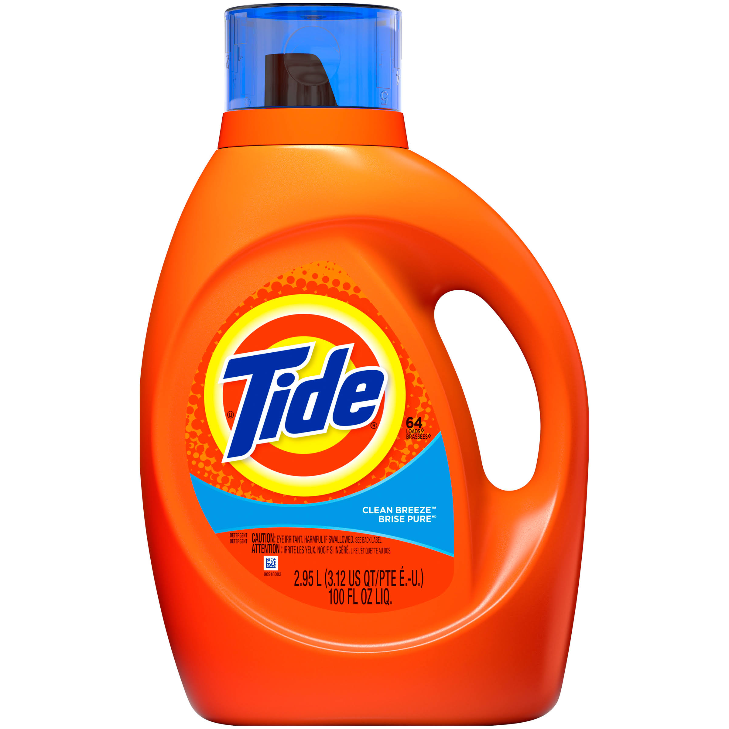 Tide Liquid Laundry Detergent - Clean Breeze Scent, 100oz