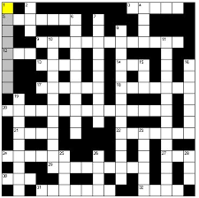 Imagen de un crucigrama.