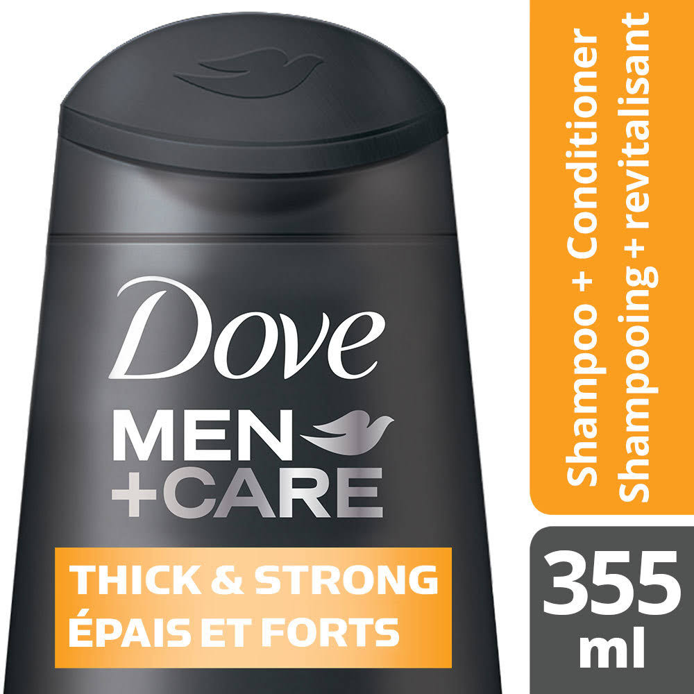 Dove Men+Care Thick and Strong Shampoo & Conditioner - 355ml