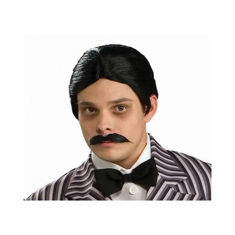 Rubie's Costume Co Men's The Addams Family Gomez Wig and Mustache Kit, Black, One Size
