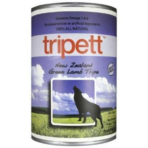 Tripett Grain-Free All Natural Dog Food - New Zealand Green Lamb Tripe