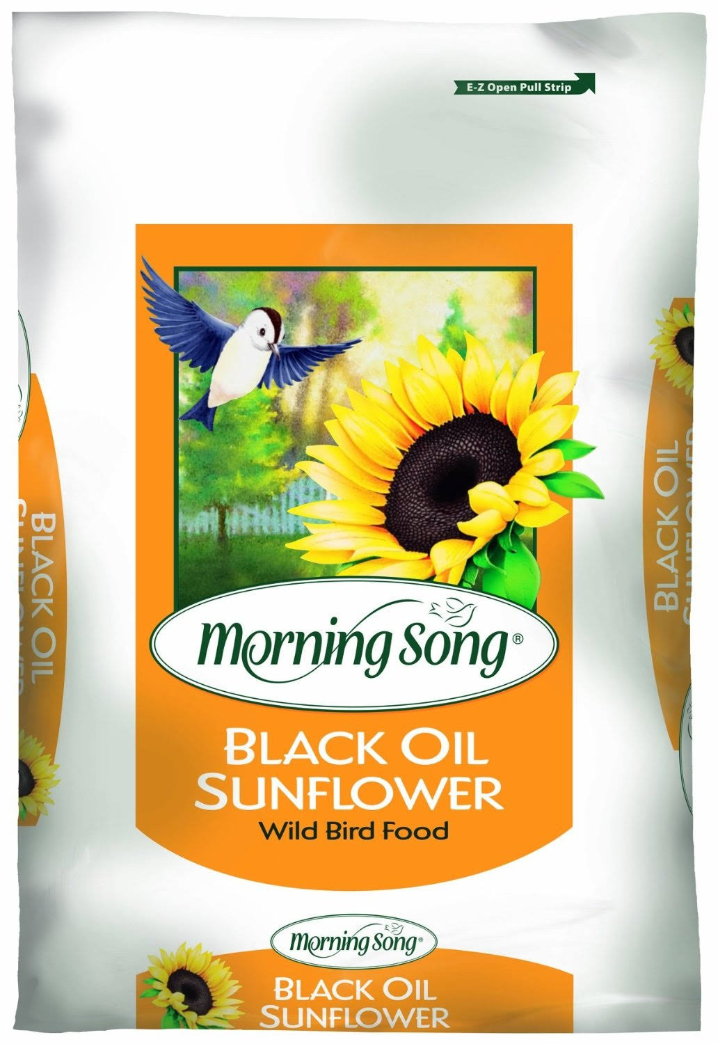Morning Song 11410 Black Oil Sunflower Wild Bird Food - 50lbs