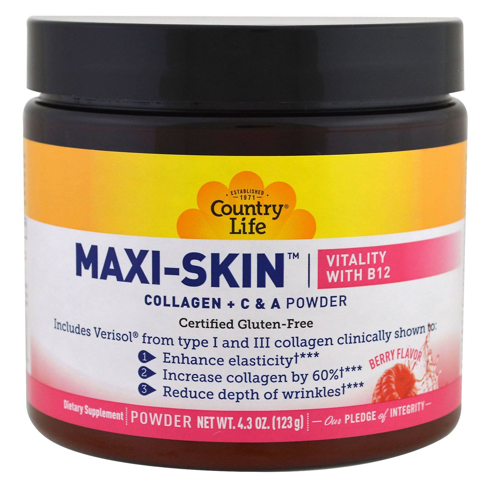 Country Life Maxi Skin Vitality with B12 Dietary Supplement - 4.3oz