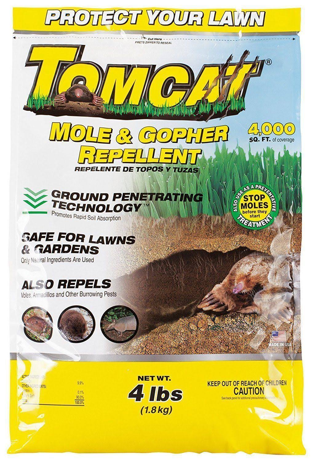 Tomcat Mole and Gopher Repellent Granules - 4lbs