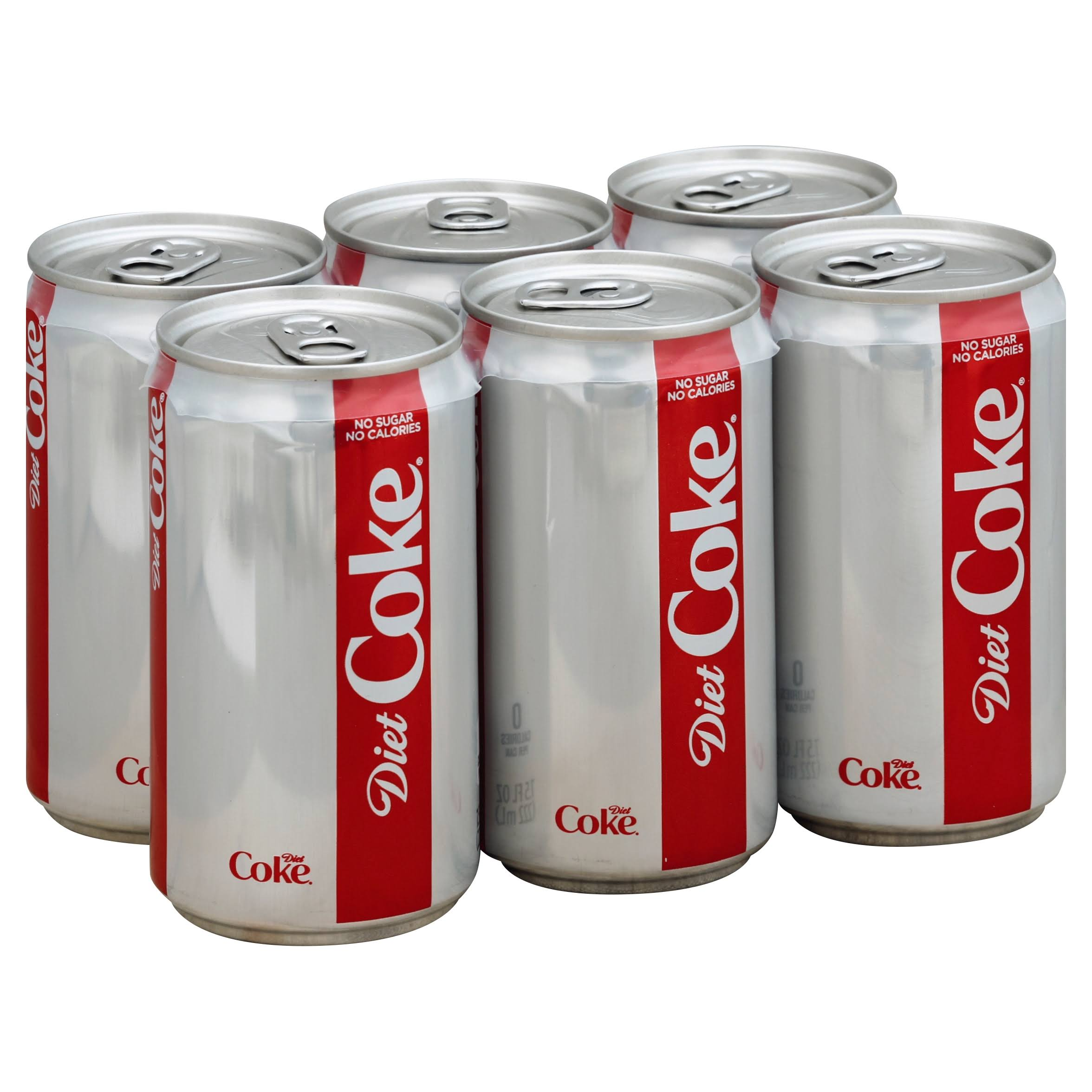Coca Cola Diet Coke Mini Can - 7.5oz, 6pk