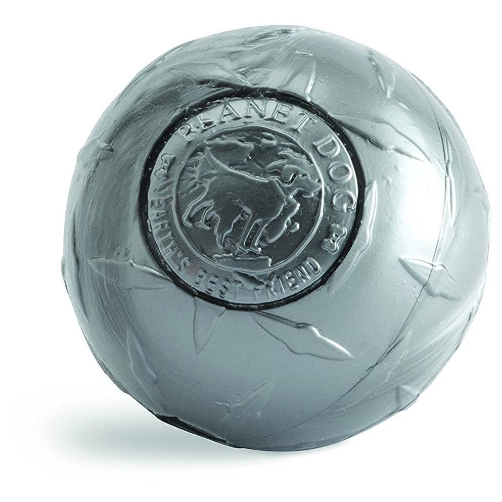 Planet Dog Orbee-Tuff Diamond Plate Orbee Ball - Silver