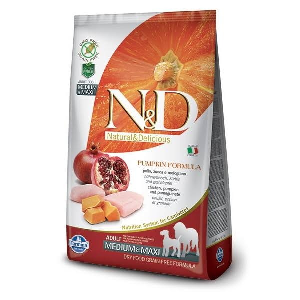 N&D Grain Free Adult Medium Dry Dog Food - Pumpkin Formula