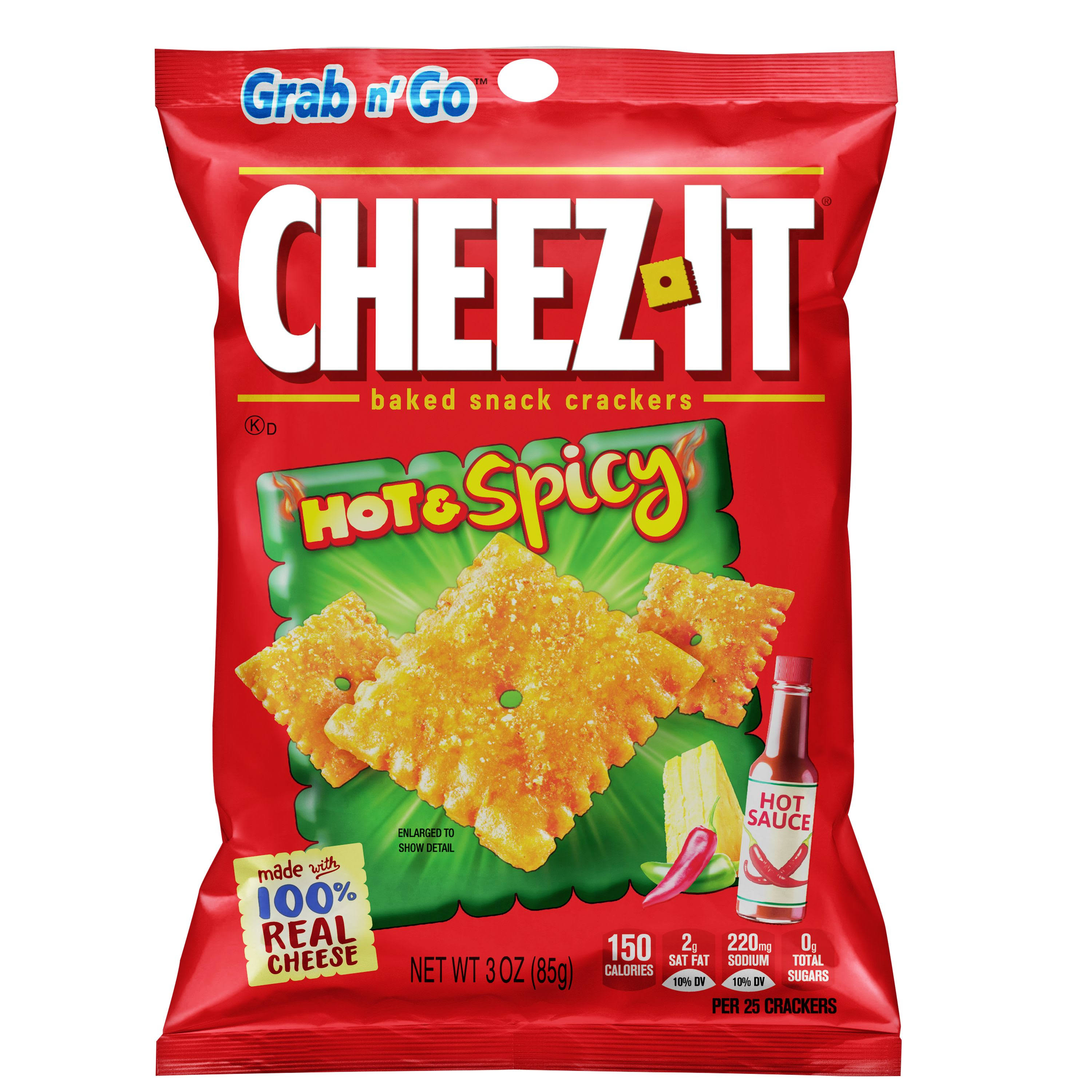 Cheez It Baked Snack Crackers, Hot & Spicy - 3 oz