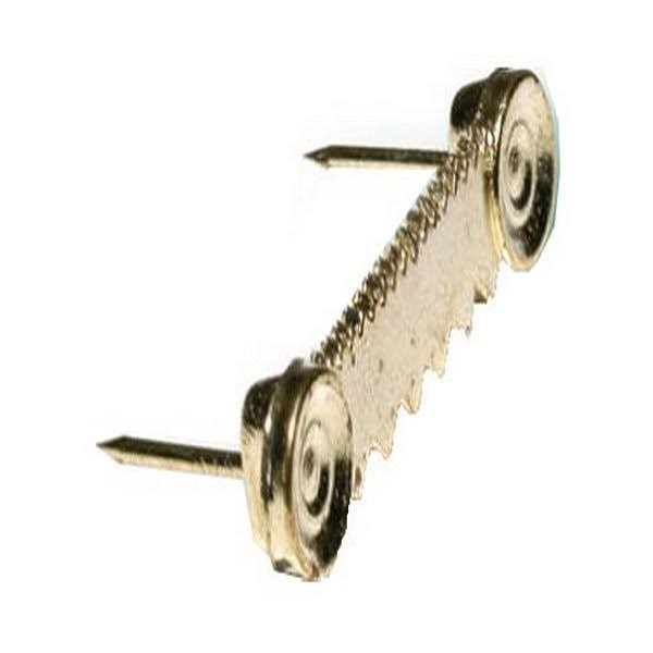 Hillman Fasteners Push in Picture Leveler - Brass, Large, 2 Pack