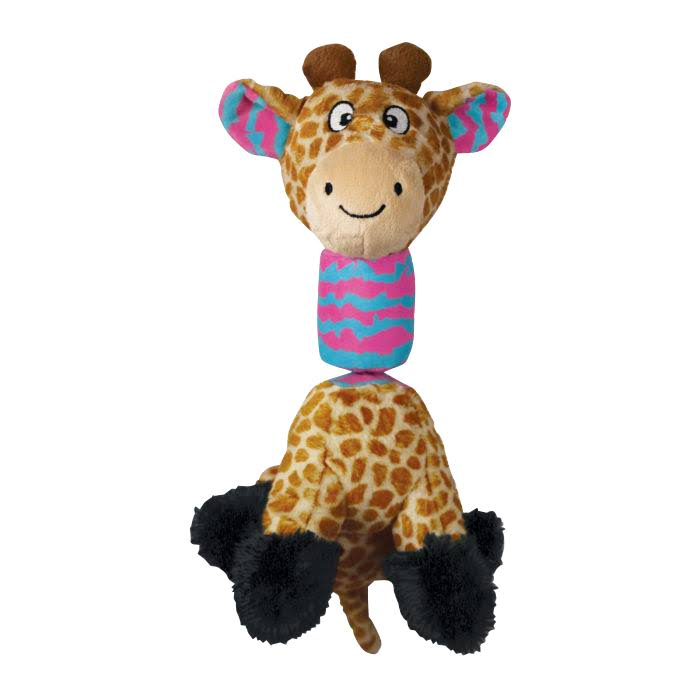 Kong RSG32 Stretchezz Tugga Giraffe Dog Toy, Small