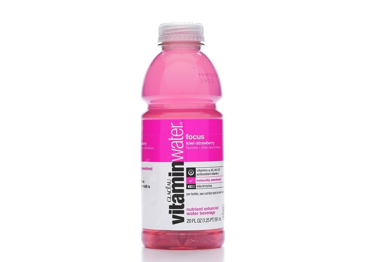 Vitaminwater Focus Water Beverage - Kiwi-Strawberry, 591ml