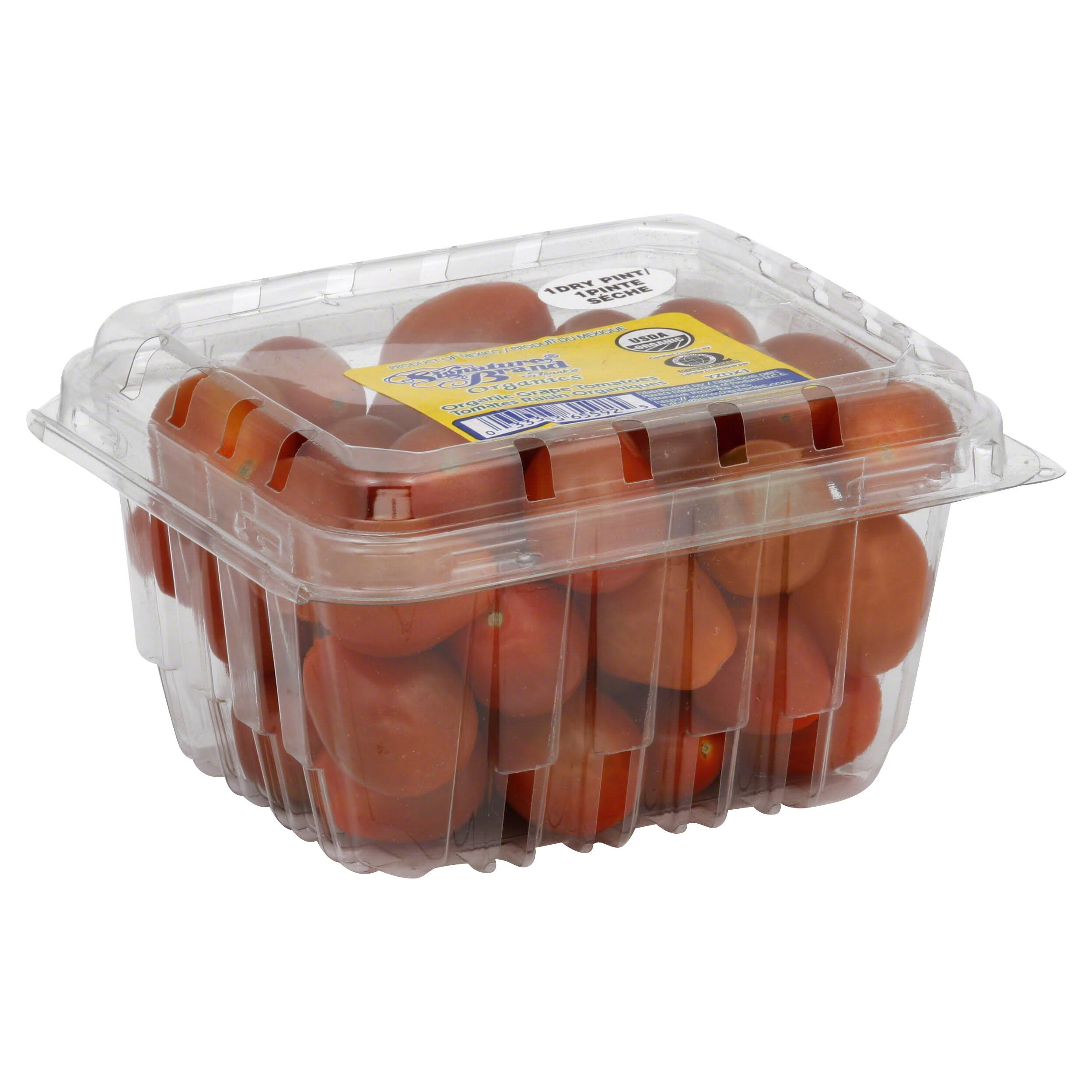 Signature Brand Organics Grape Tomatoes, Organic - 1 pt