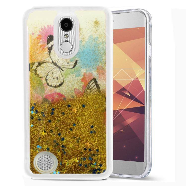 ZV Glitter Case LG Aristo 2 / Tribute Dynasty / Fortune 2 - Protective Slim Fit with Flowing Stars (Donuts)