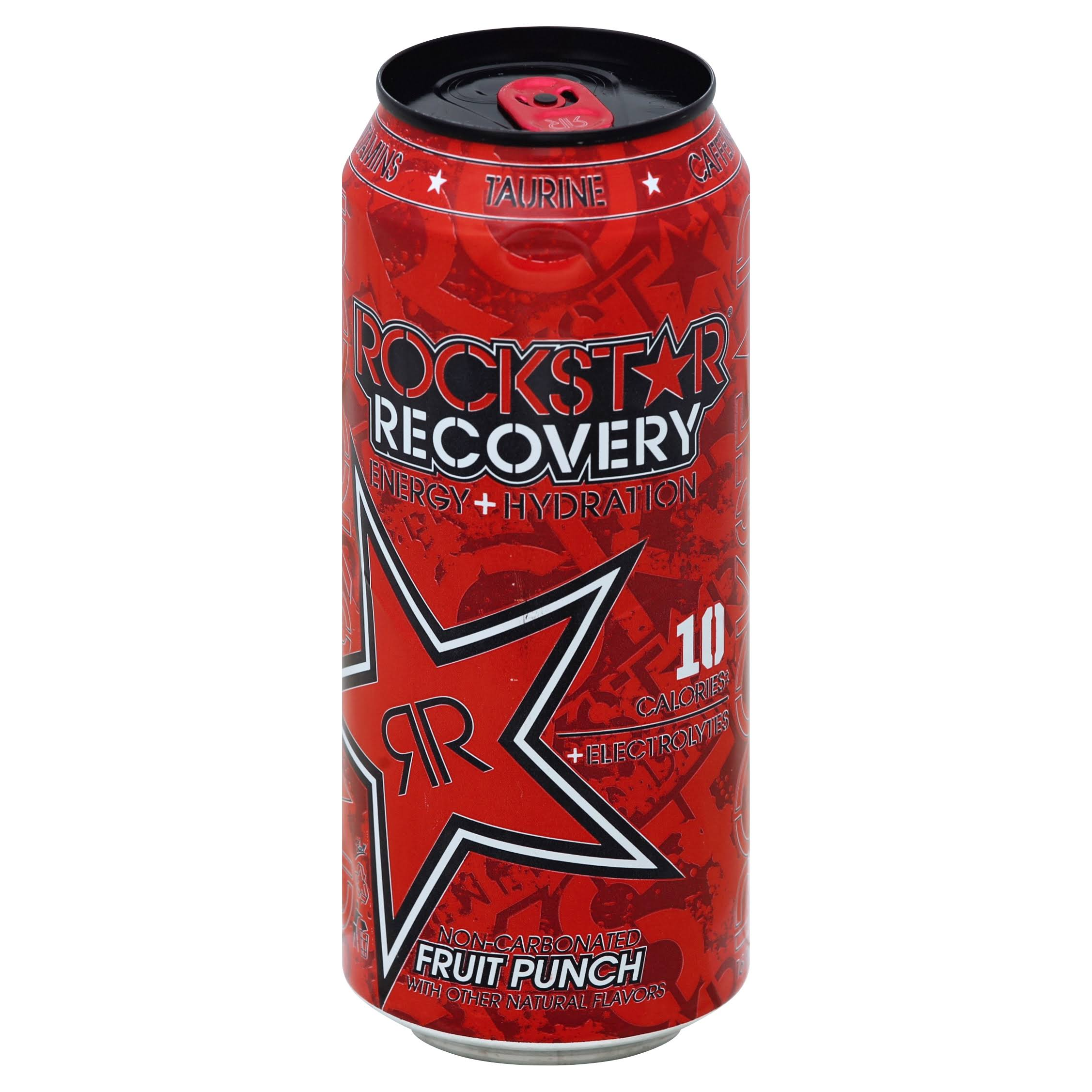 Rockstar Recovery Energy Drink, Non-Carbonated, Fruit Punch - 16 fl oz