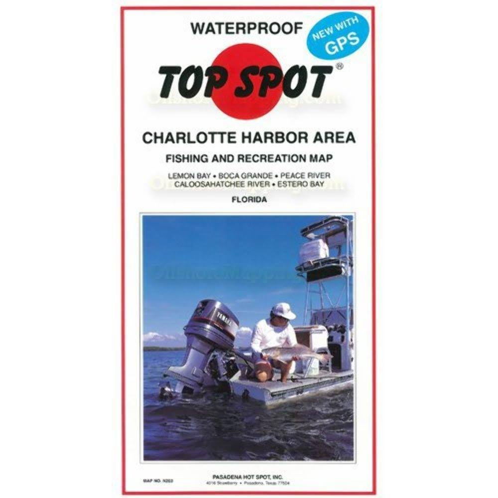 Top Spot Fishing Map for Charlotte Harbor