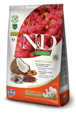 Farmina N&D Quinoa Skin & Coat Venison Dog Food - Herring & Coconut, 2.5kg