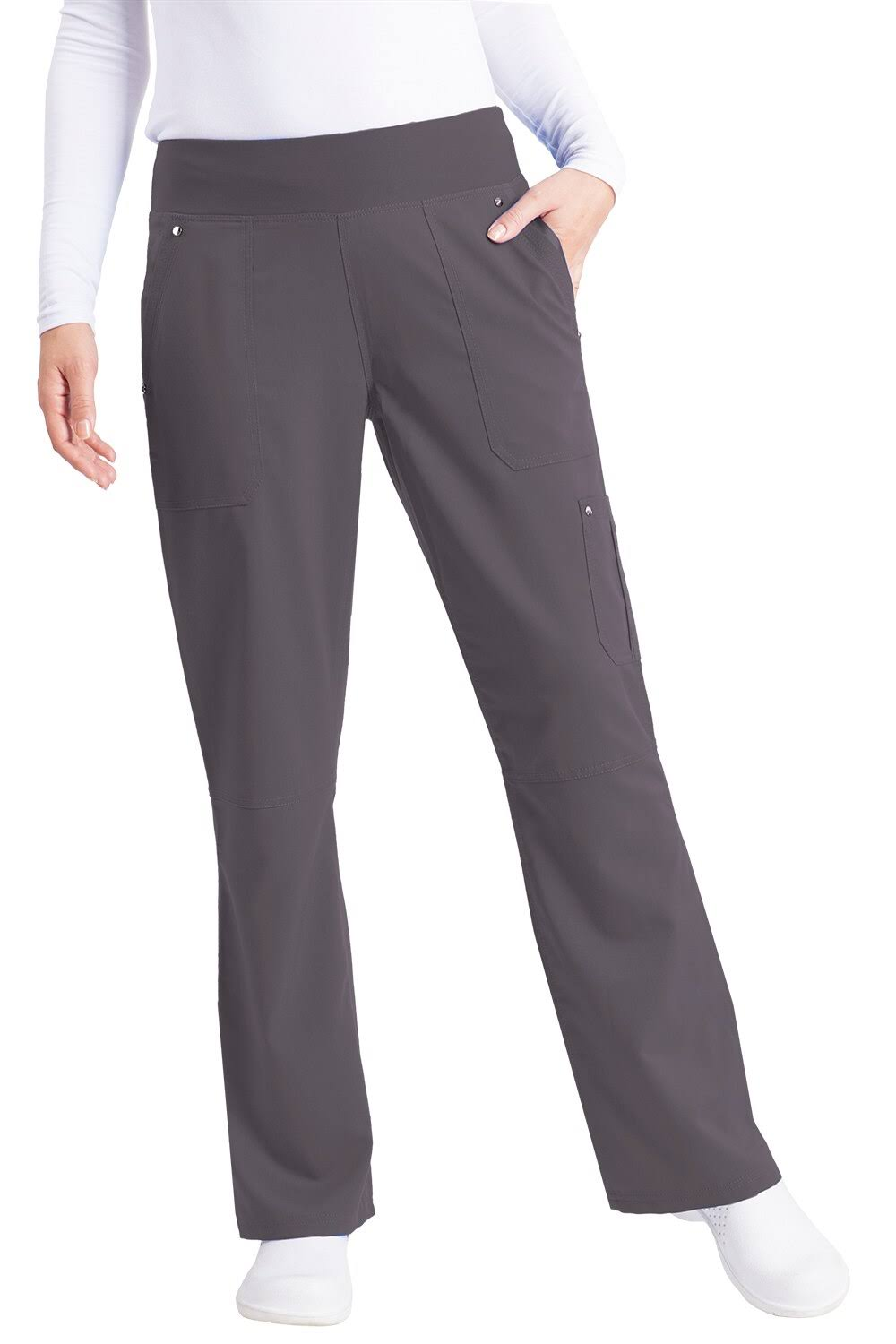Healing Hands Tori Pant Scrub Bottoms - Pewter, Medium