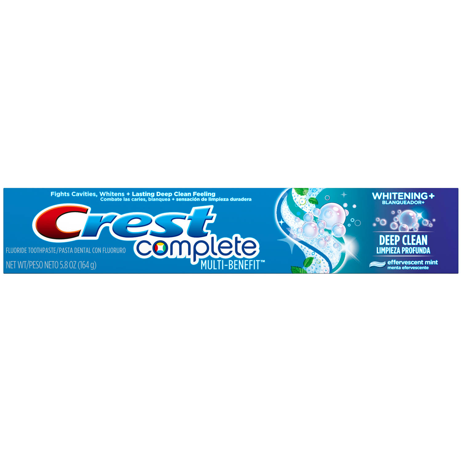 Crest Complete Multi Benefit Whitening and Deep Clean Fluoride Toothpaste - 5.8oz, Effervescent Mint