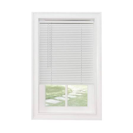 Cordless 1 inch Mini Blind, 26 inch Wide x 64 inch Long, White