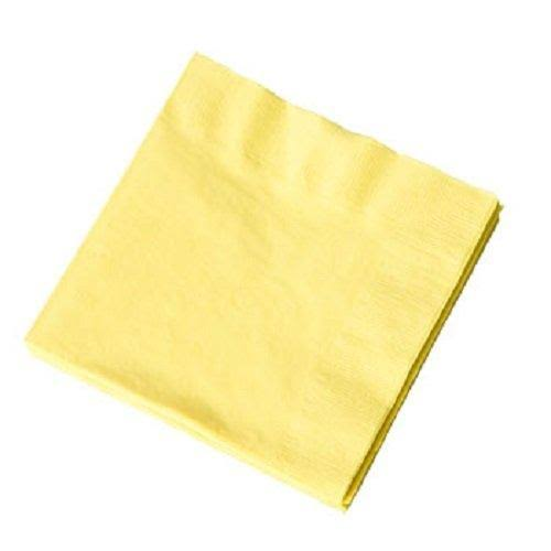 Yellow Beverage Napkins 30 ct