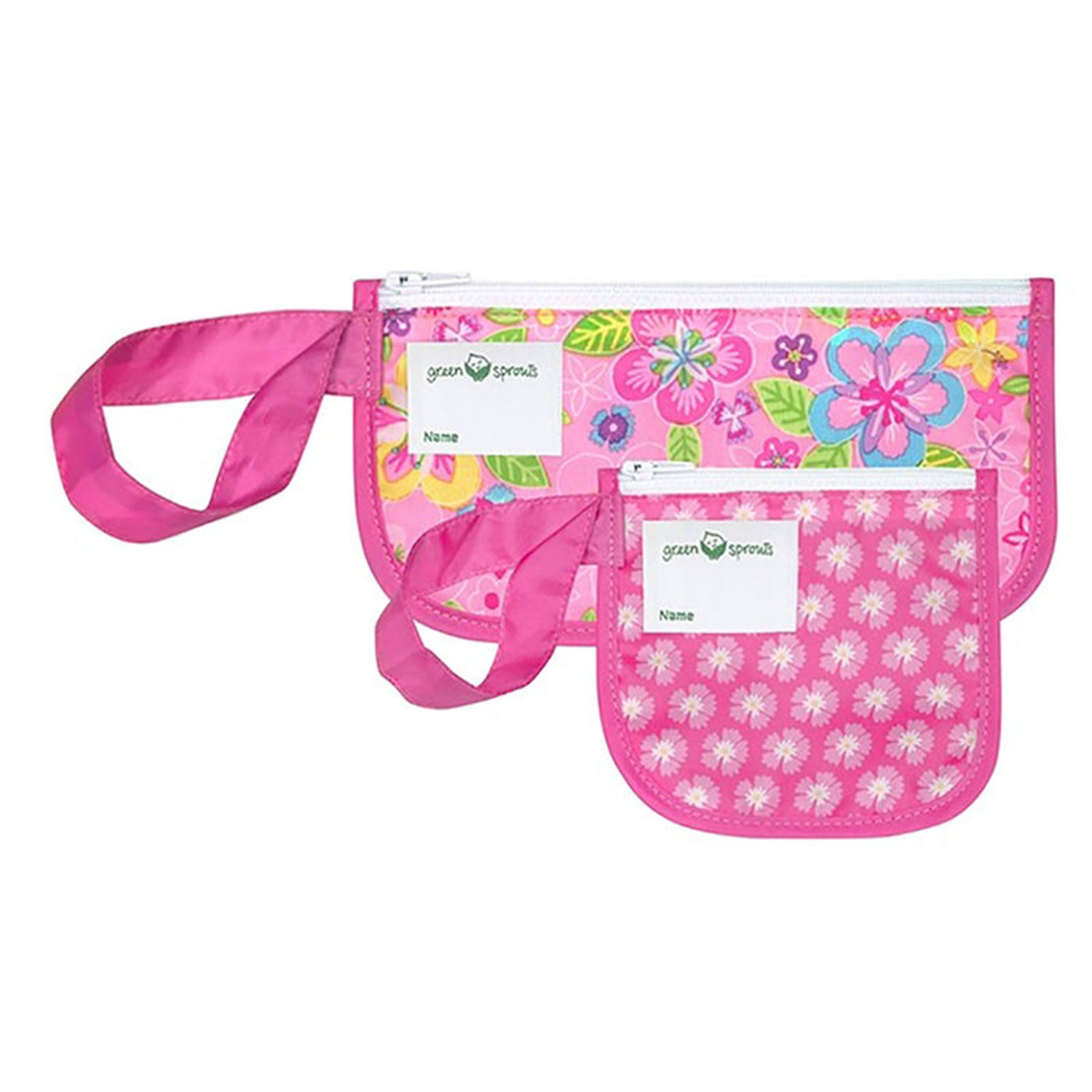 Green Sprouts 2-Pack Floral Reusable Snack Bags in Pink
