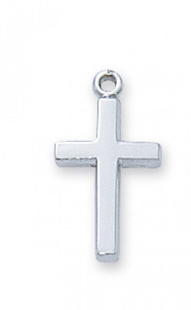 Sterling Silver Cross 16 inch Necklace Chain
