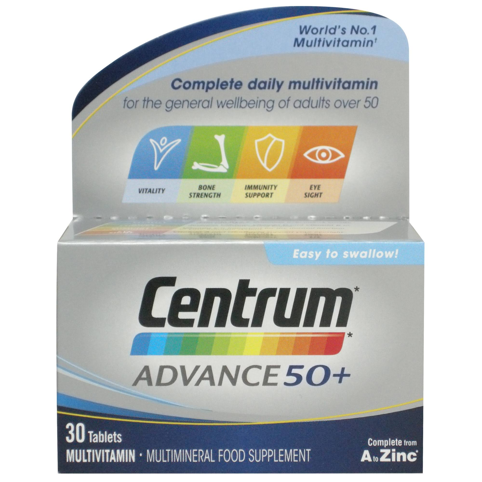Centrum Advanced 50 Plus Multivitamin - 30 Tablets