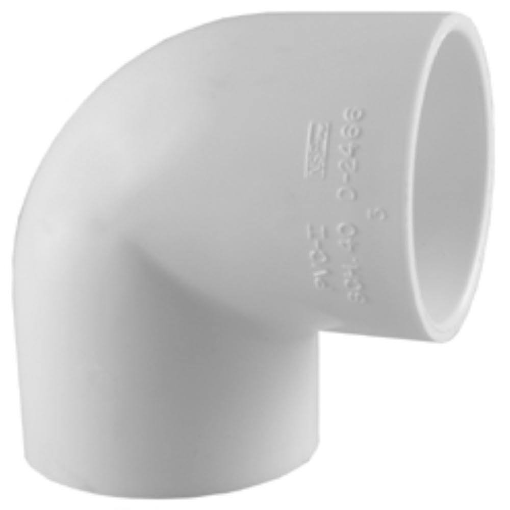 Charlotte Pipe PVC 90 Degree Elbow Pipe - 1/2""