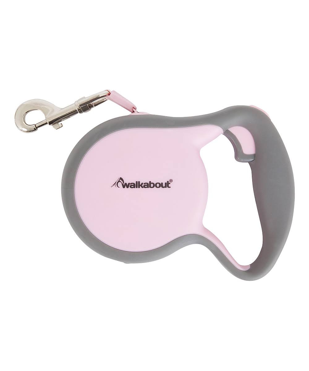 Petmate 02408 Walkabout Retractable Leash - Pink, Large