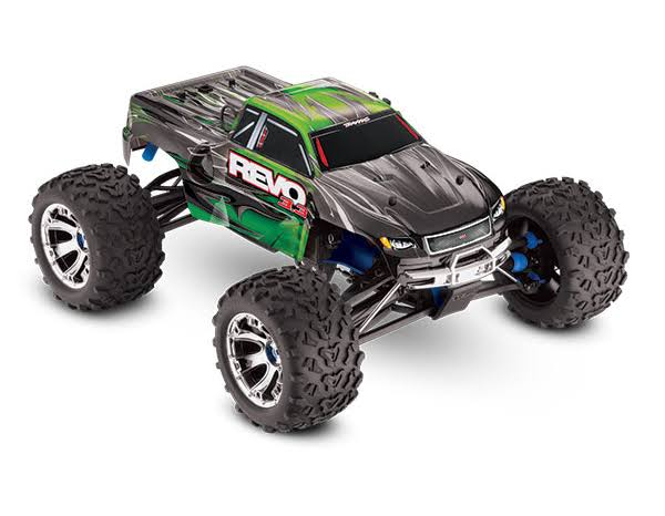 Traxxas Green Revo 3.3: 1/10 Scale 4WD Nitro-Powered Monster Truck