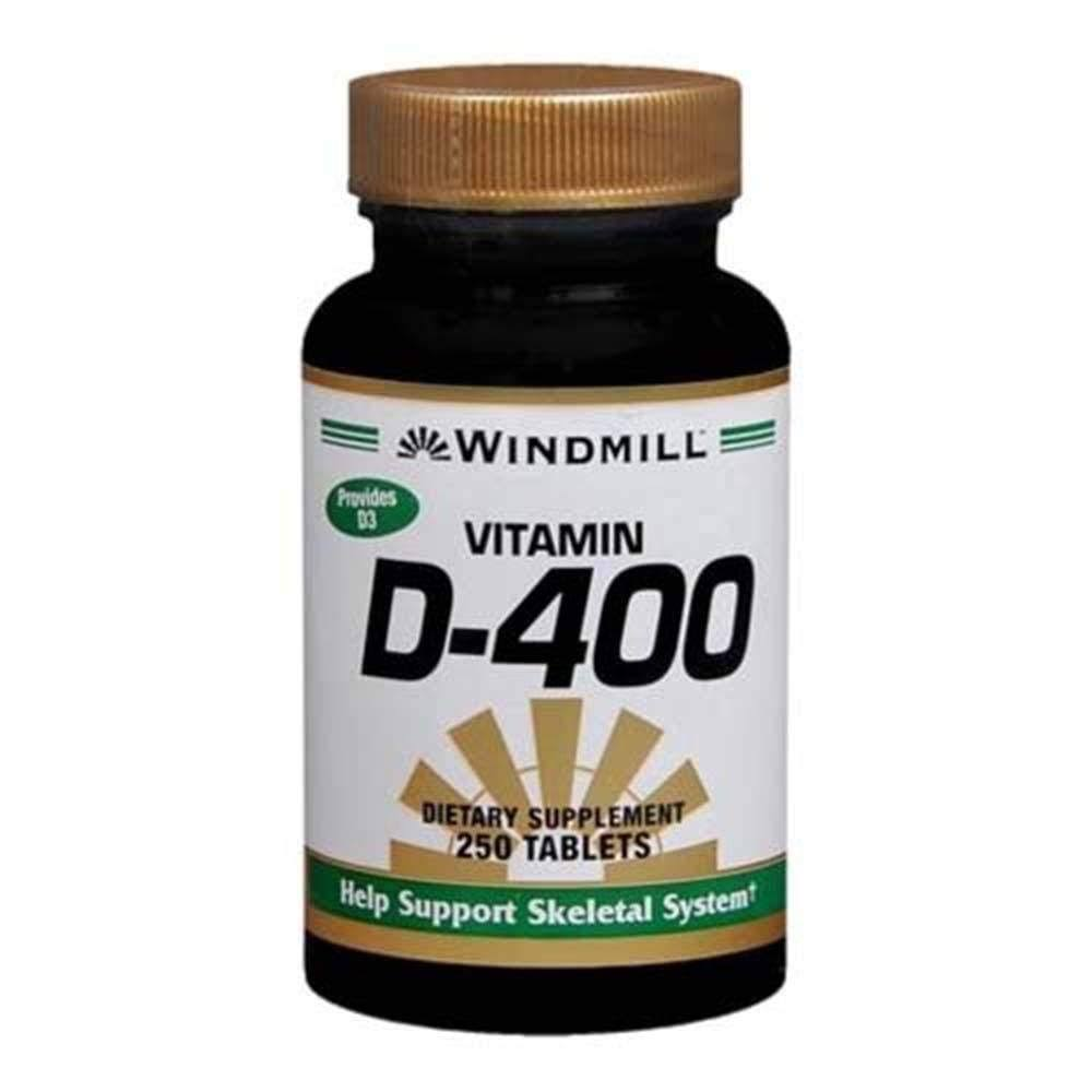Windmill Vitamin D-400IU Tablets - 250 Tablets