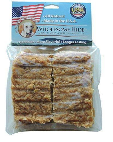 Wholesome Hide Rawhide Jerky Bars Made with Real Duck Animal Treats