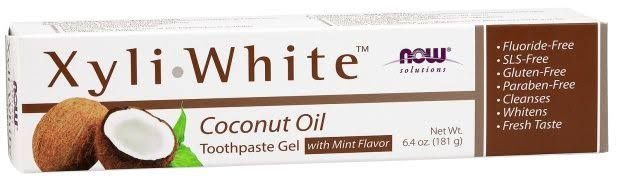 Now Foods Xyliwhite Coconut Oil Toothpaste Gel - 6.4 oz
