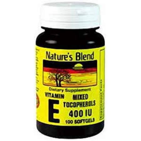 Nature's Blend Vitamin E 400Iu Dietary Supplement - 100ct
