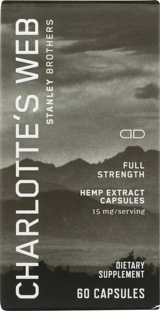 Charlottes Web Hemp Extract, Full Strength, Capsules - 60 capsules