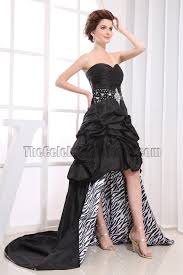 black strapless high low prom dress evening party dresses