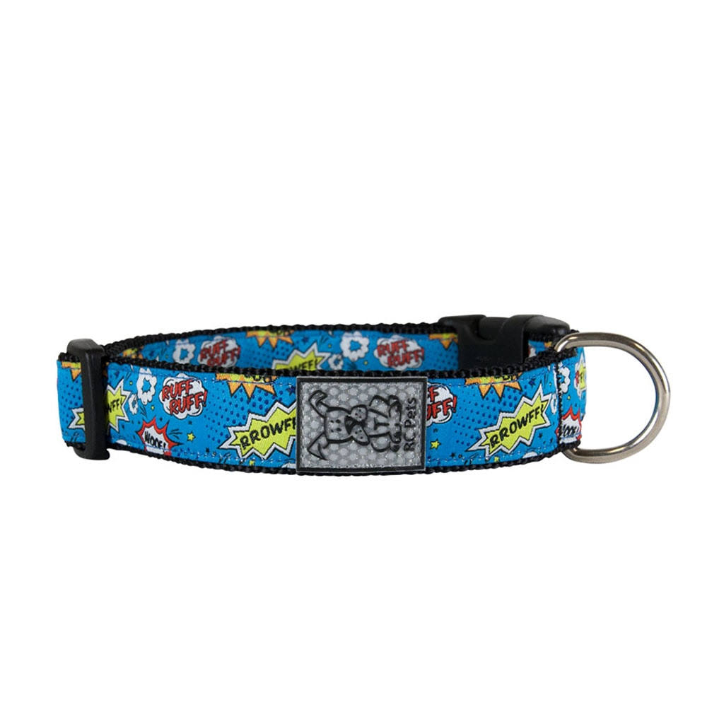 Comic Sounds Adjustable Dog Collar by RC Pet - Small