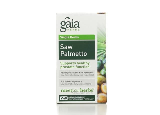 Gaia Herbs Saw Palmetto - 60 Vegetarian Liquid Phyto-Caps