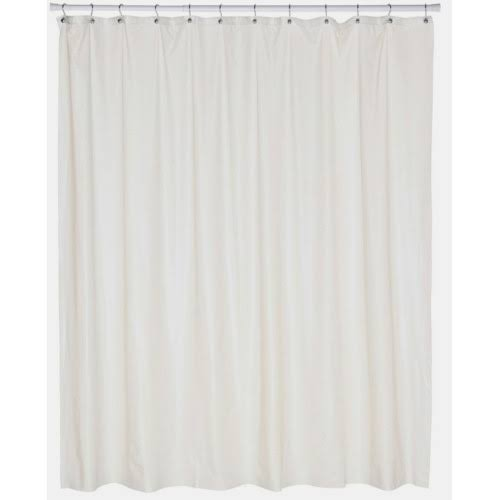 Carnation Home Fashions Extra Wide Vinyl Shower Curtain Liner Bone