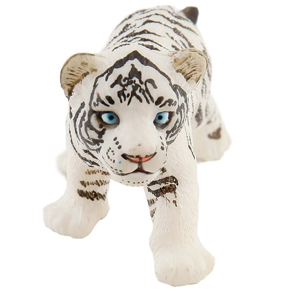 Papo White Tiger Cub Toy Figurine