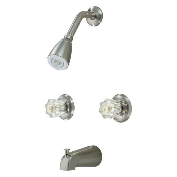 Hardware House 12-3259 Satin Nickel Tub and Shower Mixer