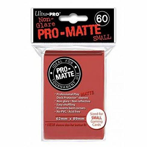 Ultra Pro Deck Protector Sleeves - x60, Red, Small