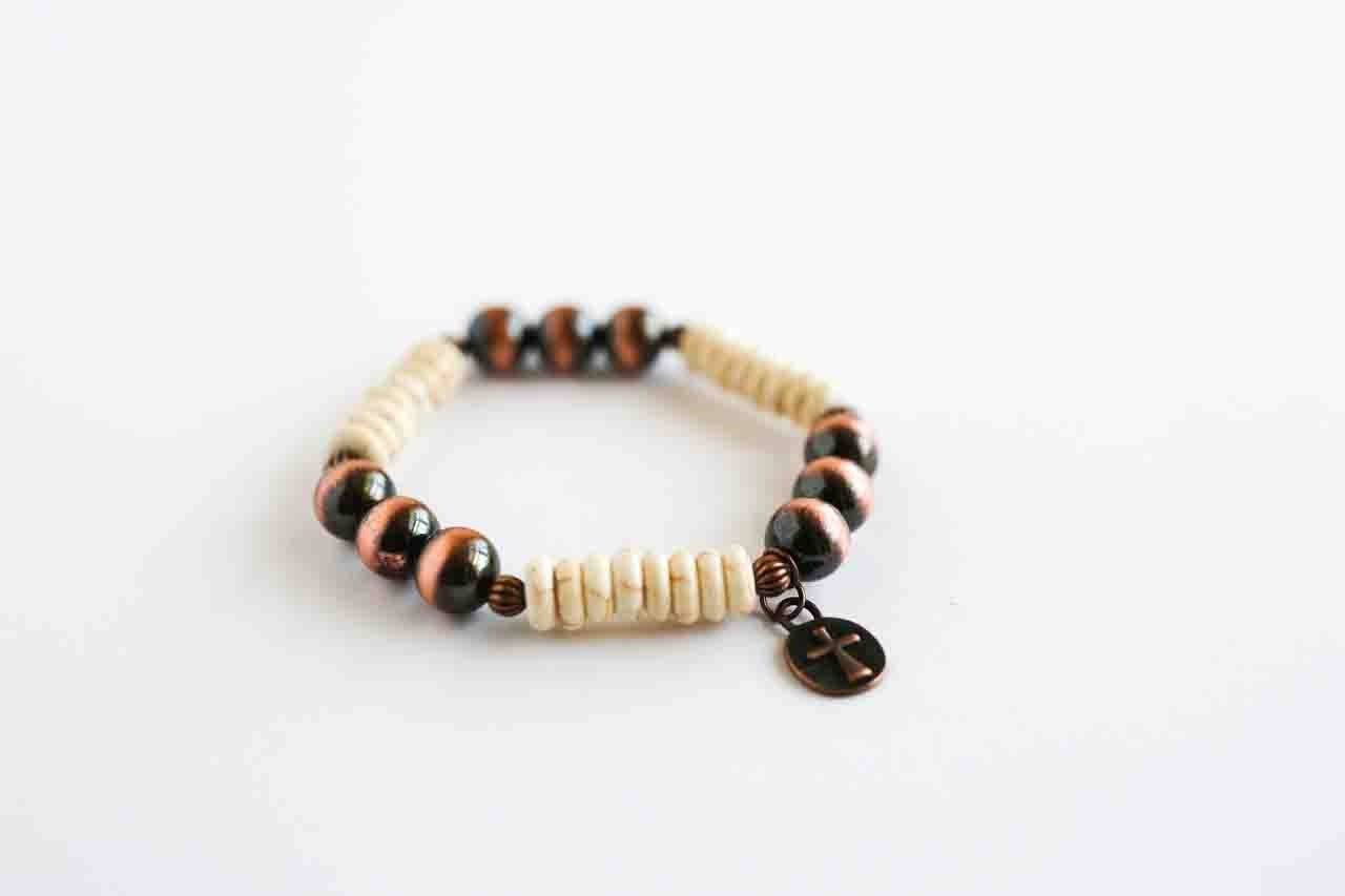 West and Co. Copper and Ivory Bracelet BR1195